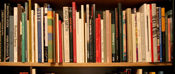 Second-hand books on shelf