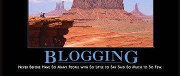 Blogging demotivational poster