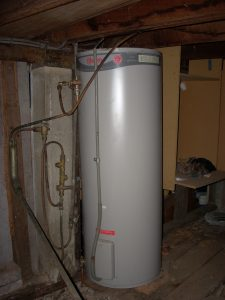 The Rheem electric hot water system under Frottage Cottage (my sharehouse)