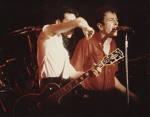 The Clash 1980 Mick Jones, Joe Strummer, Tower Theater, Philadelphia, 1980