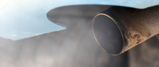 Smoky exhuast pipe