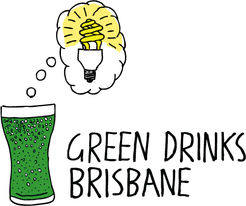 Green Drinks Brisbane logo