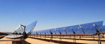 Solar thermal trough technology in desert