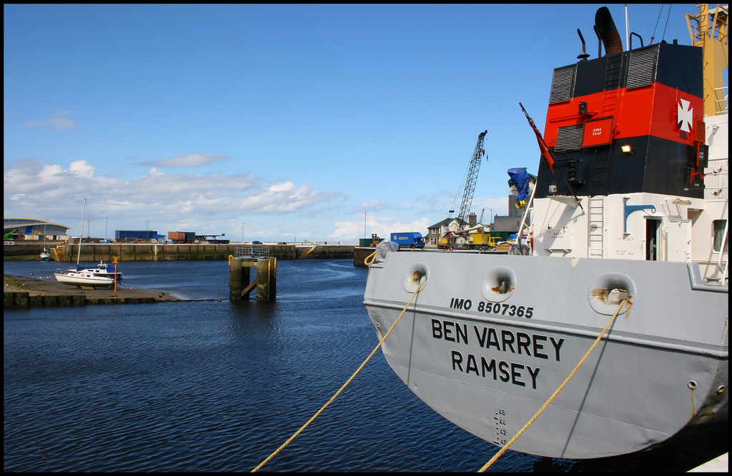 Cargo ship, Ramsey by Tasa_M