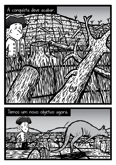 Registado floresta cartoon. A conquista deve acabar. Temos um novo objetivo agora.