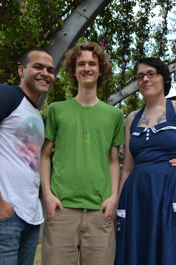 Brisbane cartoonists Zac Smith-Cameron, Stuart-McMillen and Alexis Sugden
