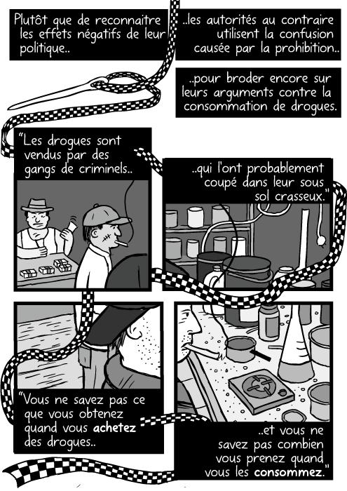 Un dessin de laboratoire clandestin. Une aiguille à broder (pour la police)