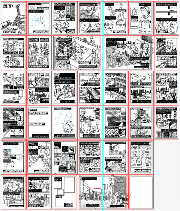 Rat Park comic by Stuart McMillen - overview of all 40 pages as of 3 March 2013 (unfinished)