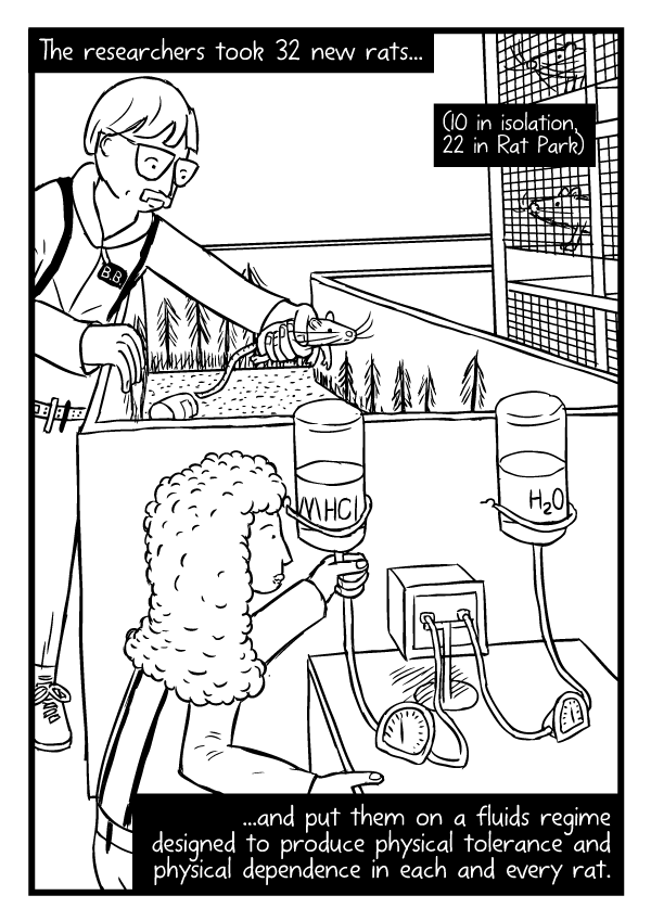 Rat Park comic by Stuart McMillen - page 25 (unfinished - line art only)