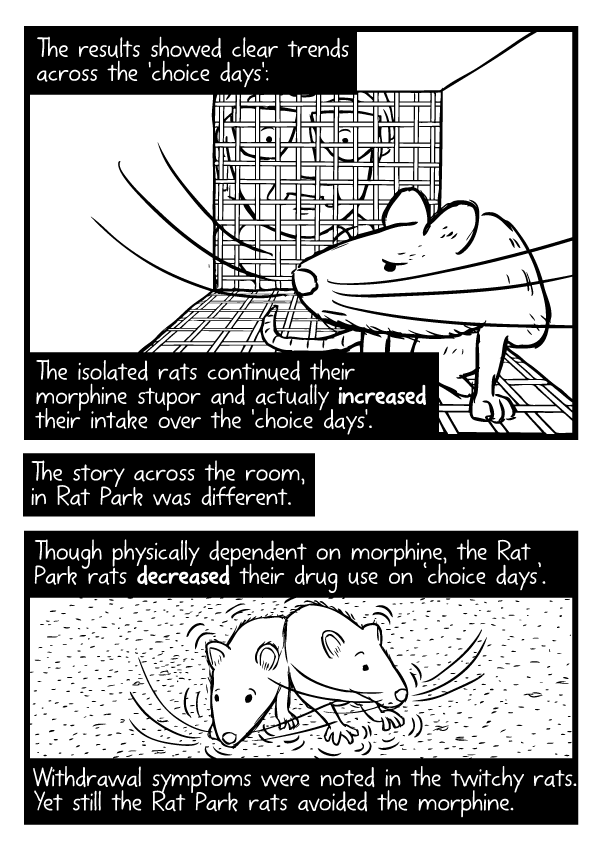 Rat Park comic by Stuart McMillen - page 27 (unfinished - line art only)
