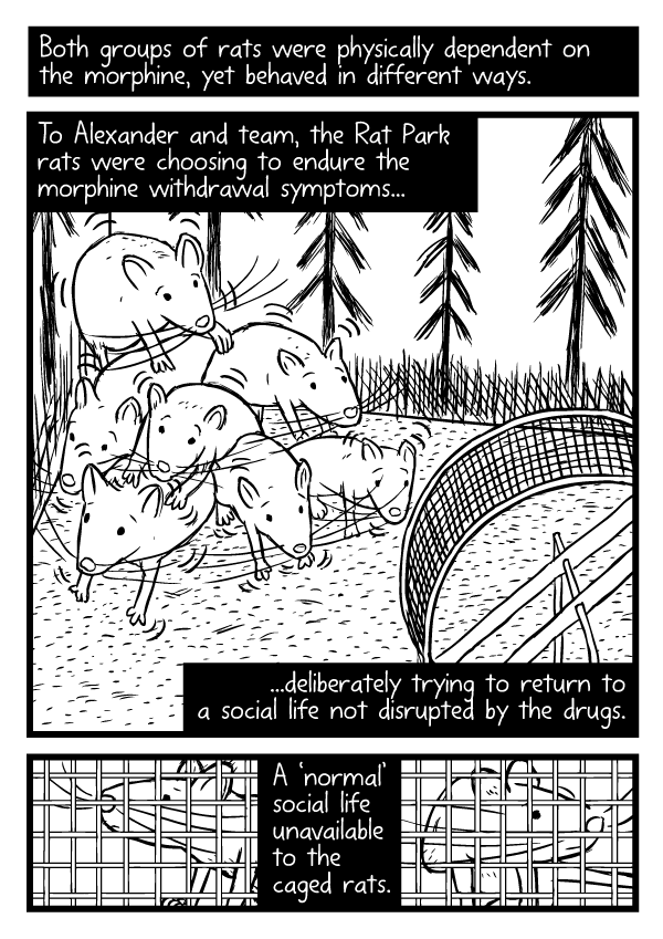 Rat Park comic by Stuart McMillen - page 28 (unfinished - line art only)