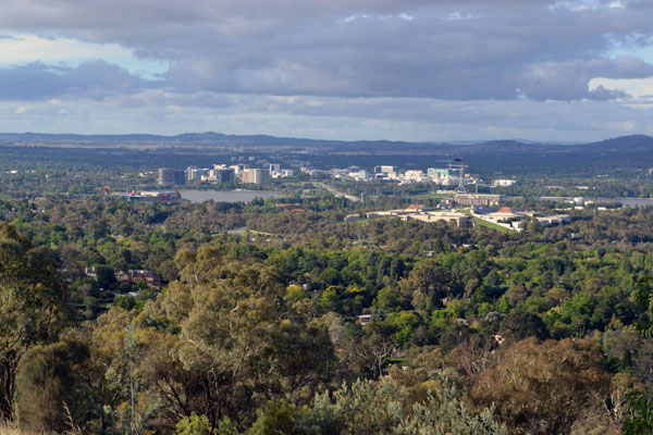 I wrote this blog post 2 weeks ago...but didn't post it until the weather cleared to take a half-decent photo of Canberra for you!