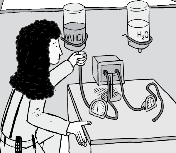 Rat Park scientist Patricia Hadaway reversing the position of fluid bottles during the drug research experiment.