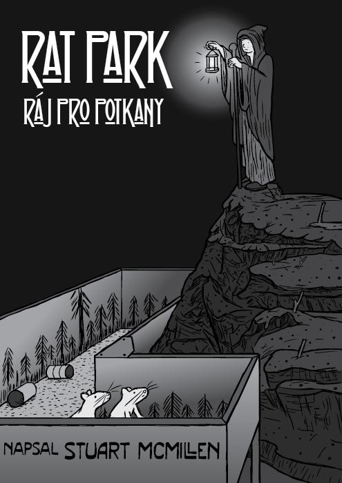 Komiks Stuarta McMillena o drogovém experimentu Rat Park. Poustevník slucernou – komiks Led Zeppelin.