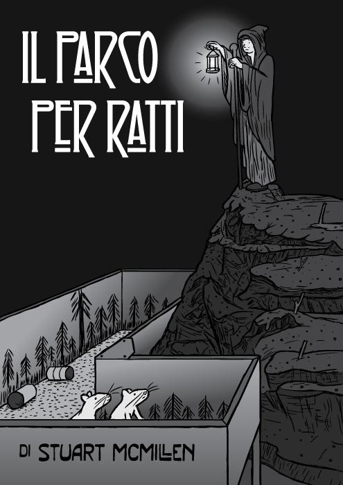 Esperimento di droga Il Parco Per Ratti fumetto di Stuart McMillen. Vignetta dell' Eremita – Led Zeppelin.