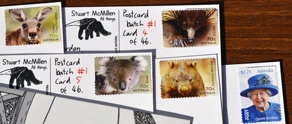 2015 Australian wildlife stamps, and Queen Elizabeth II