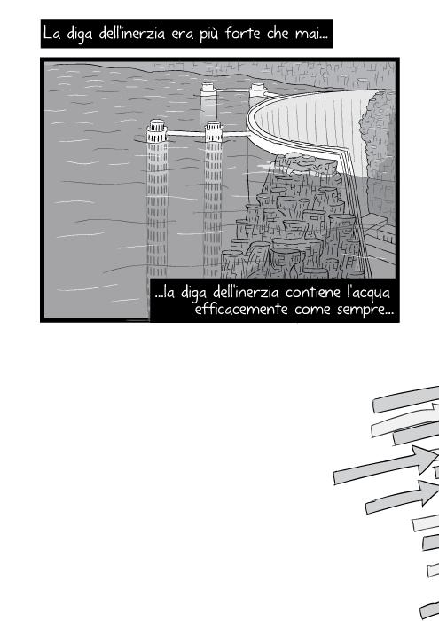 La diga dell'inerzia era più forte che mai la diga dell'inerzia contiene l'acqua efficacemente come sempre...
