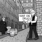 High-resolution War on Drugs comic artwork - for republication - page 1.
