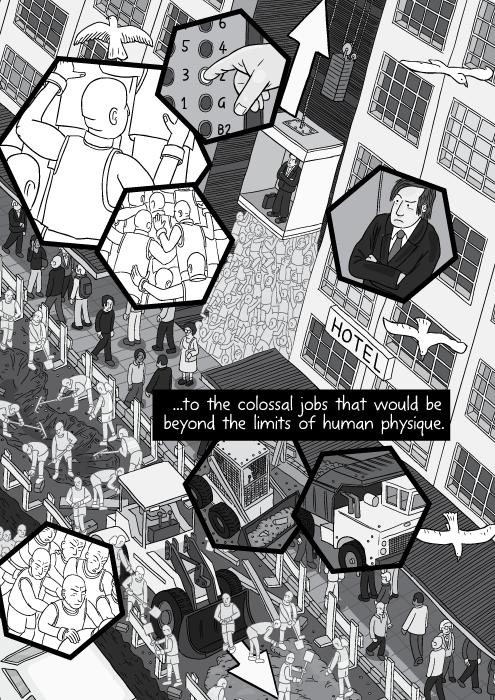 Energy Slaves comic about Buckminster Fuller - by Stuart