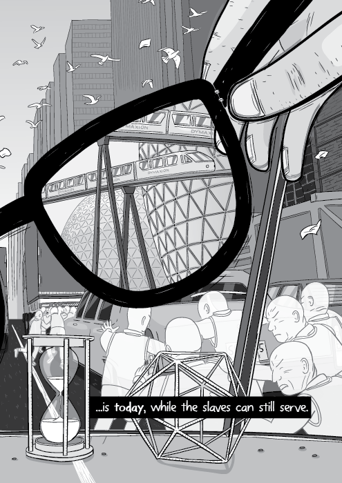 Energy Slaves comic about Buckminster Fuller - by Stuart