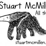 Stuart McMillen anteater cartoon. All things. stuartmcmillen.com URL