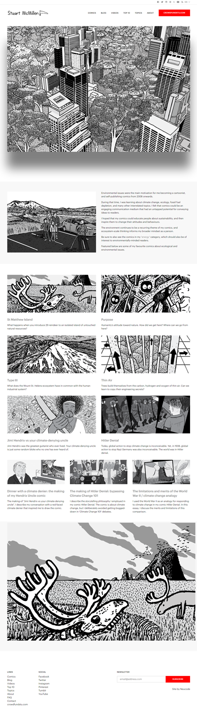 stuartmcmillen.com website's Environment topics section
