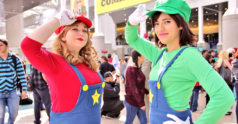 Gender bending Super Mario and Luigi - Maria and Lucia photograph.
