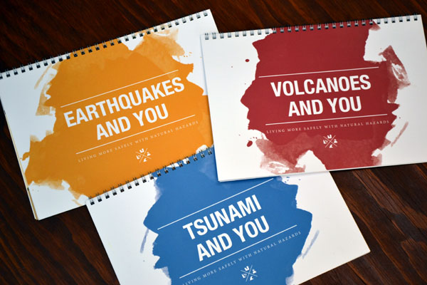 Natural Hazards by Geoscience Australia booklets about earthquakes, volcanoes and tsunami.