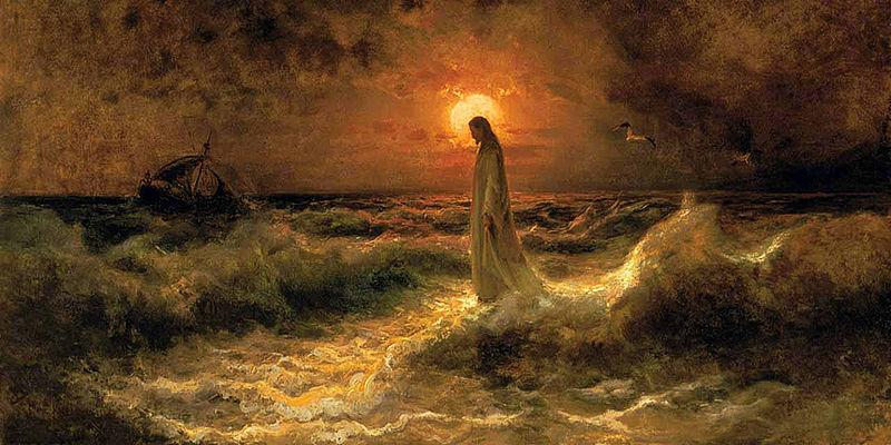 Christ Walking on the water, by Julius Sergius Von Klever