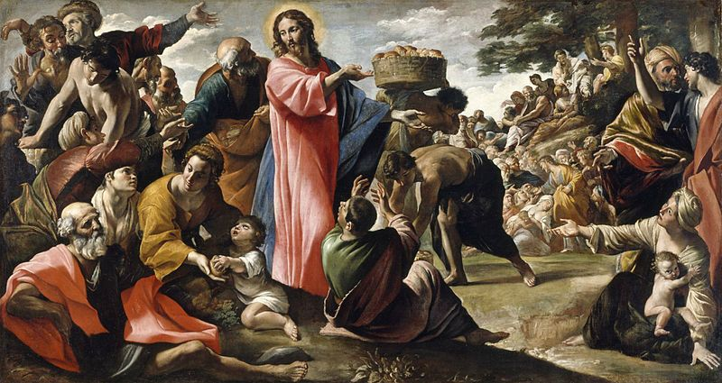 Miracle of the Bread and Fish, by Giovanni Lanfranco