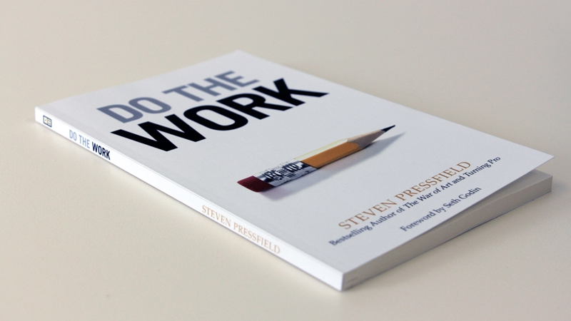 "Book cover: Steven Pressfield - ""Do the Work"""