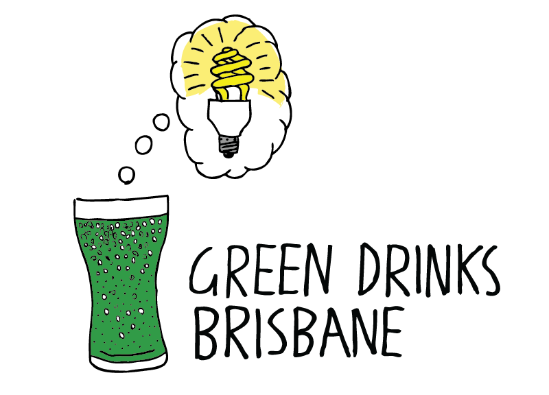 Green Drinks Brisbane logo