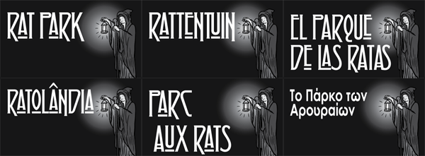 'Rat Park' comic translated into multiple languages.