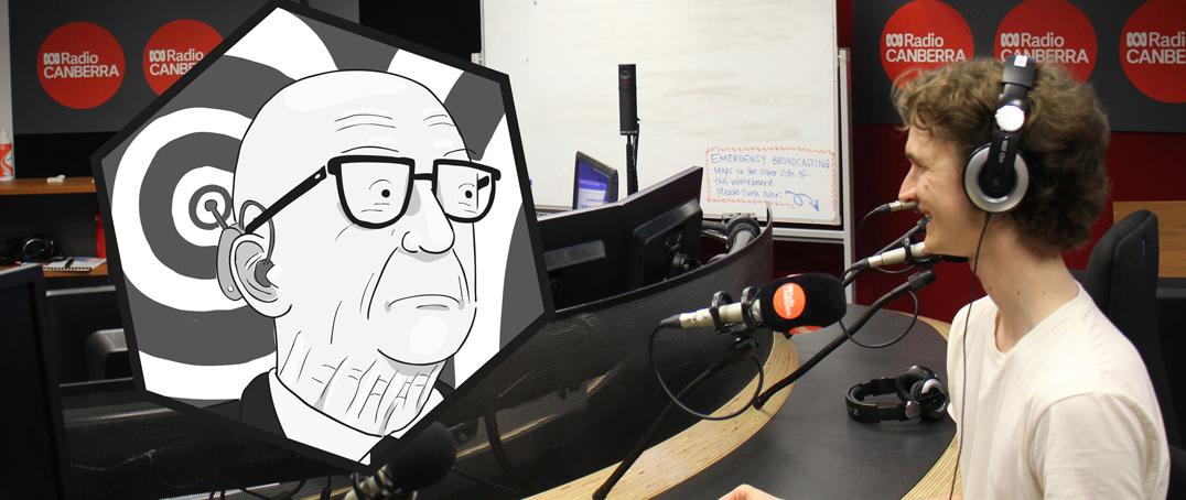 Buckminster Fuller and Stuart McMillen in podcast recording studio