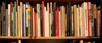 Second-hand books on shelf