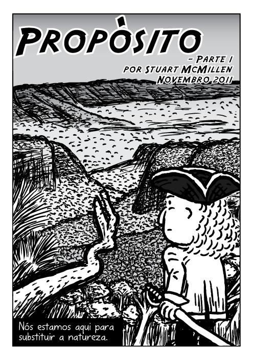 Cartoon explorador quadrinhos. Propósito - Parte 1