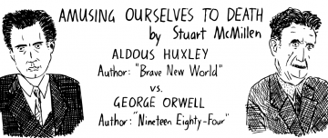 Amusing Ourselves to Death title card image of comic