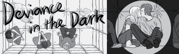 Deviance in the Dark comic thumbnail image, featuring cartoon illustrations.