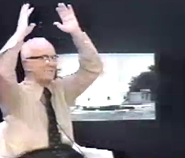 Video still from Buckminster Fuller's Everything I Know session 10 - Dymaxion Deployment Unit