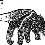Stuart McMillen anteater cartoon, with question mark.