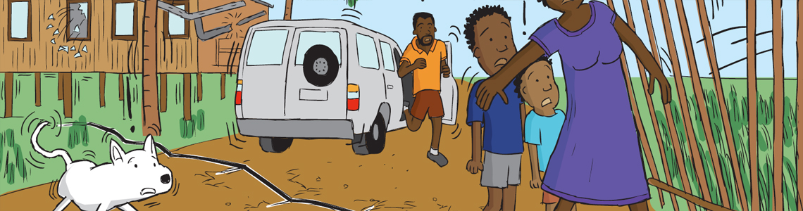 Colour cartoon illustration commissions from an educational booklet, distributed to schools.