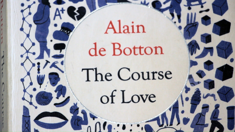 "Cover of book ""The Course of Love"" by Alain de Botton"