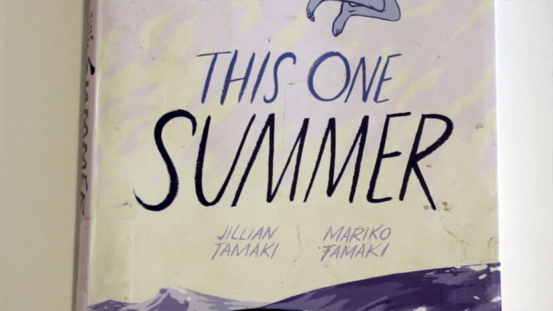 "Book cover: ""This One Summer"" (comic) by Jillian Tamaki and Mariko Tamaki"