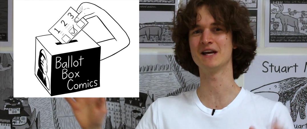 Stuart McMillen discussing Ballot Box Comics 2017