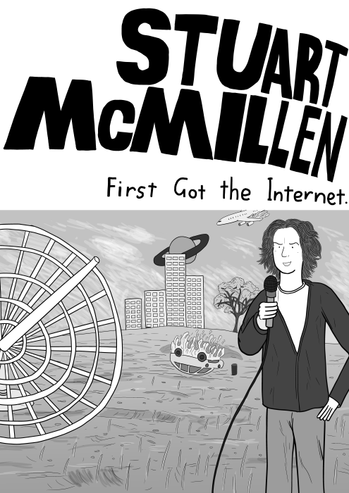 Stuart McMillen - First Got the Internet comic cover. Parody of Custard