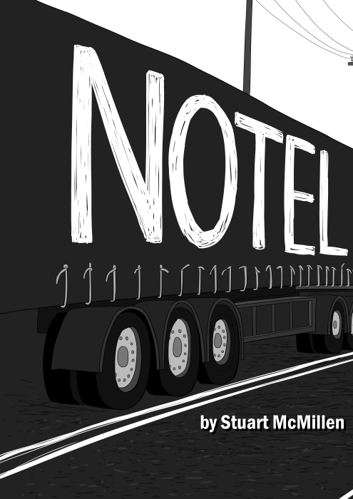 Notel comic by Stuart McMillen: black and white title text.