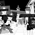 Scene from comic about schoolyard racism on Australian schoolyard from 1990s.