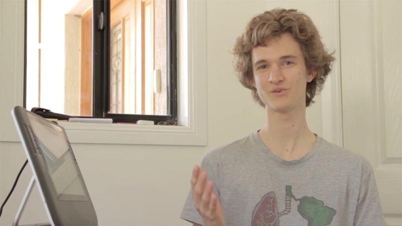 Screenshot from Stuart McMillen's 2012 first ever crowdfunding video