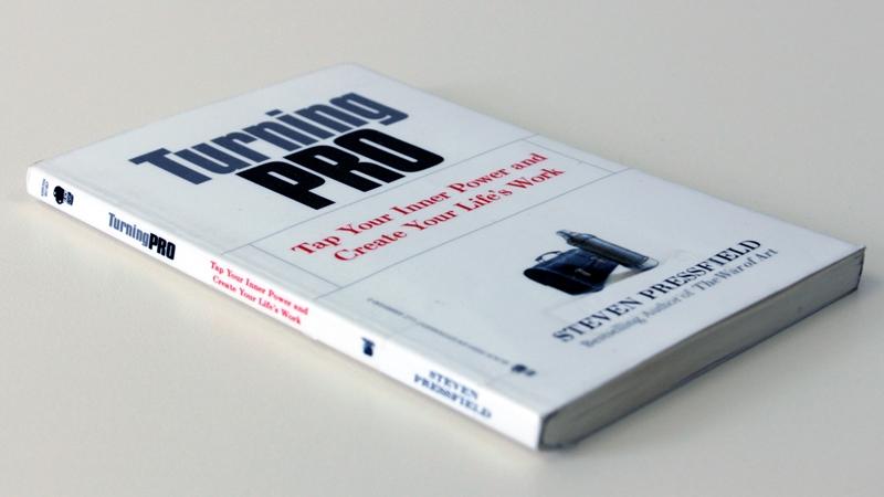 """Book cover: Steven Pressfield - """"Turning Pro"""""""