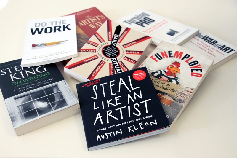 Book covers about how artists can find inspiration
